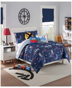 Waverly Kids All Aboard Reversible Twin Comforter Set, 2 Piece Bedding