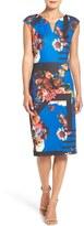 ECI Women's Print Scuba Midi Dress
