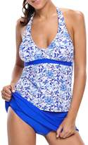 YoungSoul Women's Tankini with Skirt Bottom Two Pieces Swimsuit US 16-18