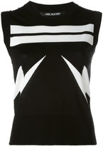 Neil Barrett Lightning Bolt striped tank top - women - Nylon/Viscose - S