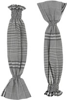 Burberry check technical puff sleeves