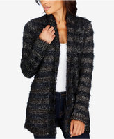 Lucky Brand Striped Eyelash Cardigan