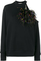 Christopher Kane cut out pom pom sweatshirt
