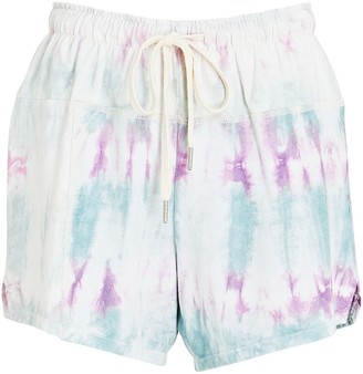 John Elliott Tie-Dye Cotton Shorts