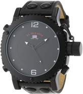 U.S. Polo Assn. Classic Men's US4021 Analog Leather Strap Watch