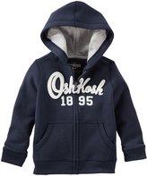 Osh Kosh Zip Up Hoodie (Baby) - Navy - 12 Months