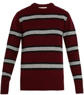 Marni Striped crew-neck wool sweater