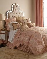 Sweet Dreams King Alessandra Scalloped Damask Duvet Cover