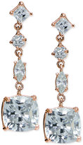 Giani Bernini Cubic Zirconia Linear Drop Earrings in 18k Rose Gold-Plated Sterling Silver, Only at Macy's