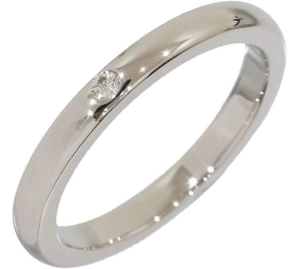 Tiffany & Co. 950 Platinum Elsa Peretti Diamond Band Ring Size 5.5