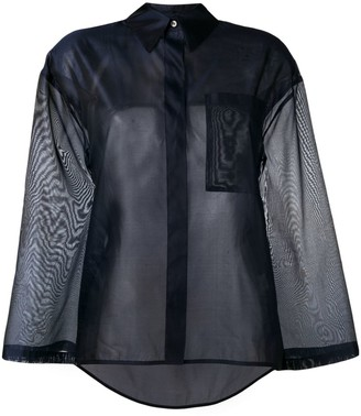 Roberto Collina Oversized Sheer Shirt