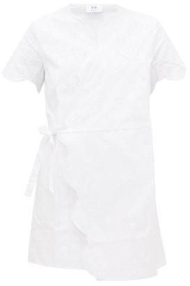 Sir - Delilah Broderie-anglaise Cotton Wrap Mini Dress - White