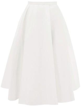 Rochas A-line Satin Skirt - Ivory