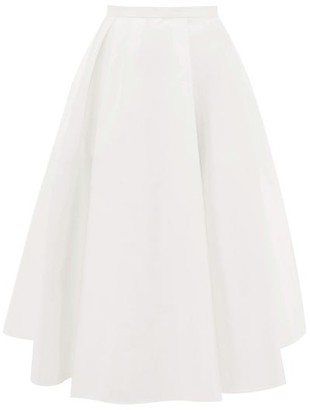 Rochas A-line Satin Skirt - Womens - Ivory