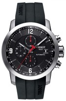 Tissot Men's Prc200 Automatic Chronograph Silicone Strap Watch, 43Mm