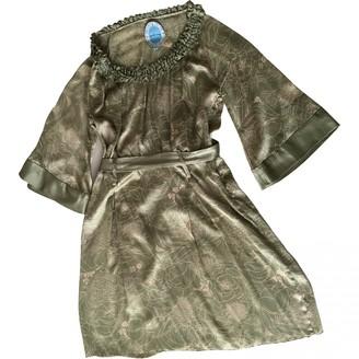 April May Khaki Silk Dress for Women