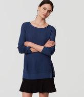 LOFT Petite Striped Side Button Sweater