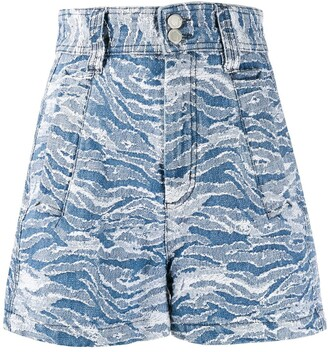 Just Cavalli zebra pattern shorts