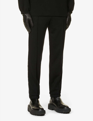 Fendi Logo-tape cotton, wool, silk and cashmere-blend jogging bottoms
