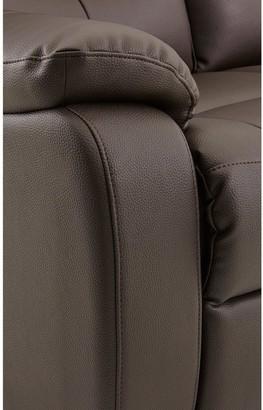 RothburyLuxury Faux Leather 3-SeaterManual Recliner Sofa