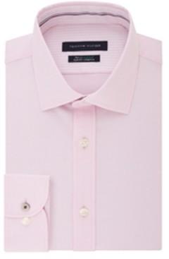 Tommy Hilfiger Men's Big & Tall Classic-Fit Performance Stretch Spread Collar Dress Shirt