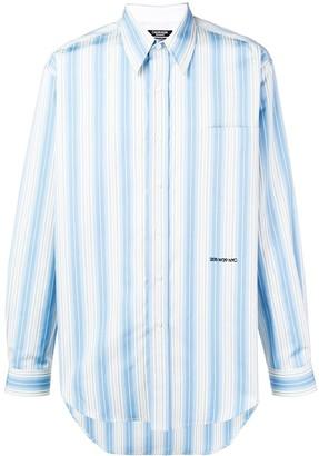 Calvin Klein embroidered logo striped shirt