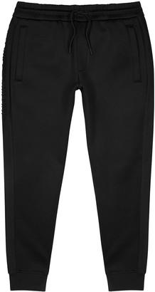 Emporio Armani Black logo stretch-neoprene sweatpants