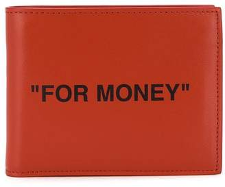 Off-White slogan print wallet