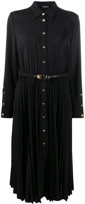 Versace Pleated Shirt Dress