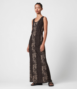 AllSaints Ami Masala Maxi Dress