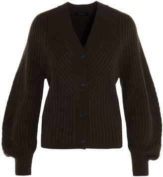 Low Classic V-Neck Ribbed Cardigan