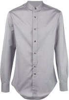 Emporio Armani band collar shirt - men - Cotton - 41