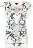 Just Cavalli floral snake print T-shirt