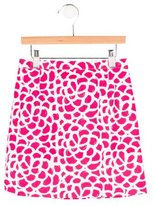 Oscar de la Renta Girls' Printed Pencil Skirt