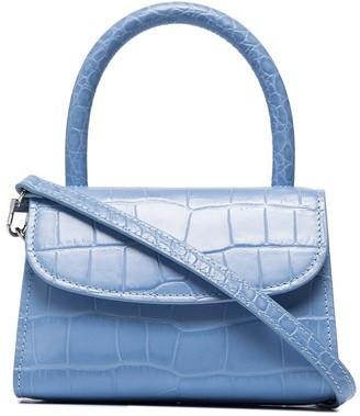 BY FAR Crocodile-Effect Mini Shoulder Bag
