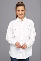 Columbia Bahamatm L/S Shirt (White) Women's Long Sleeve Button Up