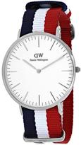 Daniel Wellington Classic Cambridge 0203DW Men's Nylon and Stainless Steel Watch