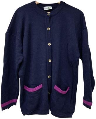 Lacoste Navy Wool Knitwear for Women Vintage