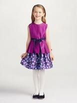 Oscar de la Renta Petite Roses Mikado Party Skirt