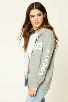 Forever 21 FOREVER 21+ Locals 83 Zip-Up Hoodie