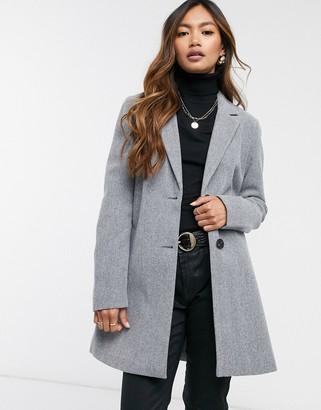 Vero Moda tailored coat in dark grey