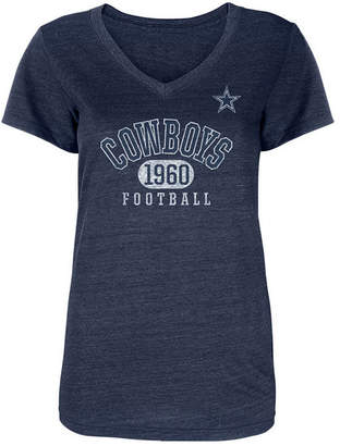 Authentic Nfl Apparel Women Dallas Cowboys Mariah V-Neck T-Shirt