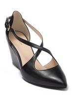 Cole Haan Emberlee Crossover Leather Wedge Heel
