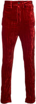 Ann Demeulemeester metallic skinny trousers - men - Silk/Rayon - S