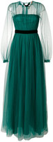 No.21 open back tulle gown - women - Polyamide/Viscose - 42