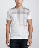 Burberry Ombre Check-Graphic Tee, White
