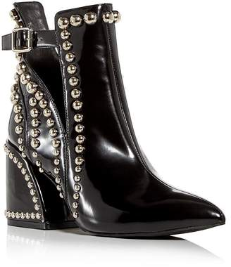 Jeffrey Campbell Women's Studded Pointed-Toe Block-Heel Booties