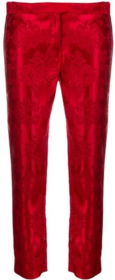 Ann Demeulemeester Floral Embroidered Skinny Trousers