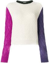 Fausto Puglisi colourblock thick jumper - women - Polyamide/Mohair/Wool - 40