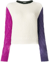 Fausto Puglisi colourblock thick jumper
